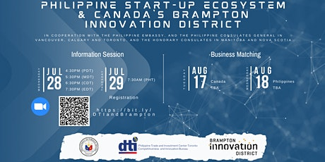 Philippine Start-up Ecosystem and Canada's Brampton Innovation District tickets