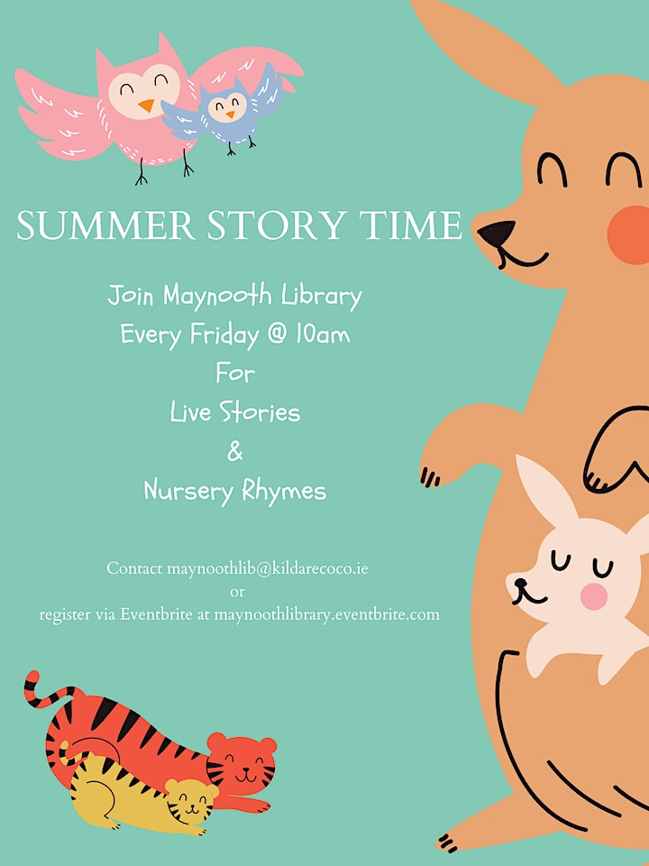 Live Story Time & Sing Along Nursery Rhymes July 9th image