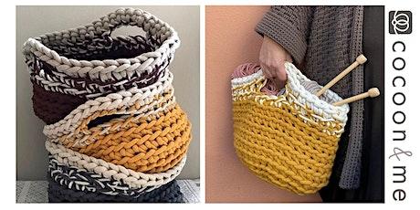 Crochet Storage Basket Workshop - Brighton tickets