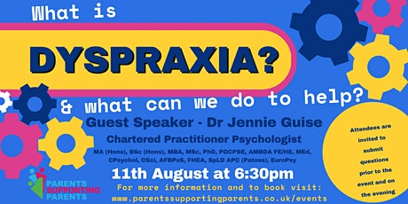 Dyspraxia, What is it, and what can we do to help? tickets