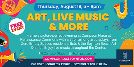SUMMER ART & ENTERTAINMENT STROLL  AT COMPSON PLACE - AUGUST 19 tickets