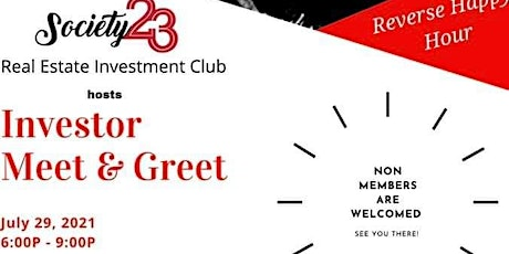 Society 23 Investment Club Meet and Greet tickets