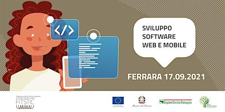 2021 OPEN DAY FERRARA - Sviluppo software web e mobile biglietti