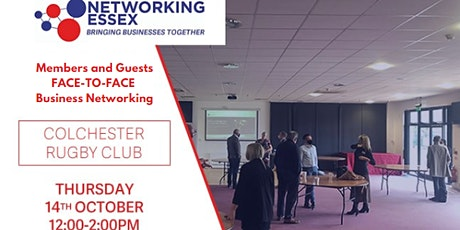 (FREE) Networking Essex Colchester Thursday 14th October 12pm-2pm tickets