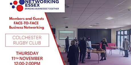 (FREE) Networking Essex Colchester Thursday 11th November 12pm-2pm tickets