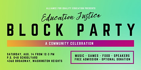 Education Justice Block Party tickets