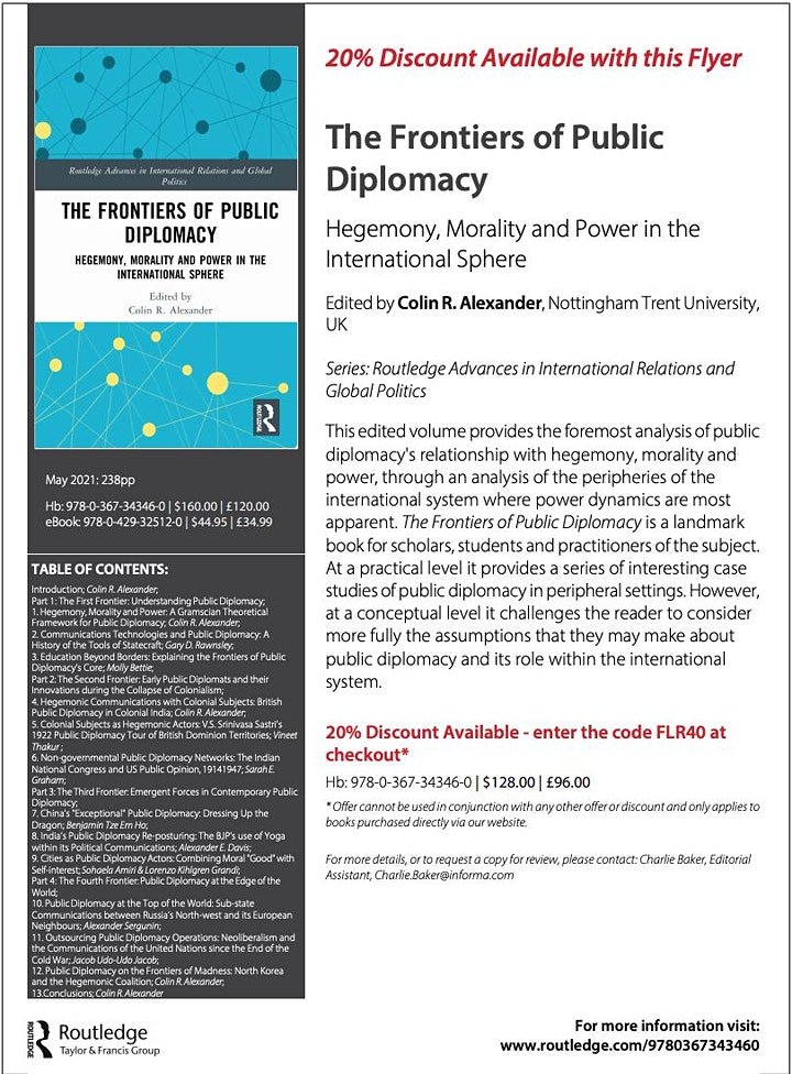 Public Diplomacy and Education Exchanges (Molly Bettie and Colin Alexander) image
