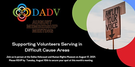 DADV Meeting: Supporting Volunteers Serving in Difficult Cause Areas tickets