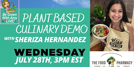 FREE! LIVE! 14 Year Old Sheriza Shows us How to Easily Cook Plant Based Foo tickets