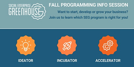SEG Fall Programming Info sessions tickets
