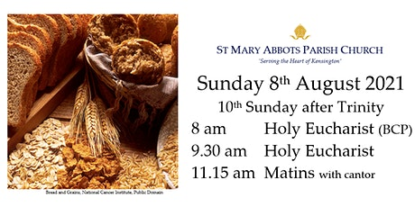 Sunday Services on 8th August 2021 tickets