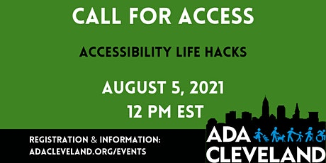 Accessibility Life Hacks tickets