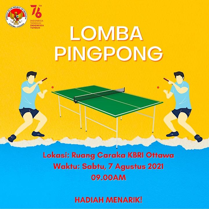 Lomba Pingpong HUT RI ke-76 image