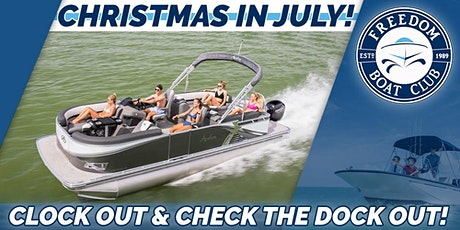 Clock Out and Check the Dock Out! Freedom Boat Club tickets
