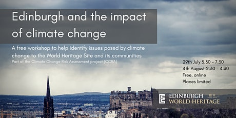 Edinburgh and the impact of climate change: free public workshop tickets