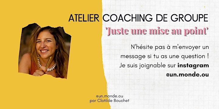 Image pour Atelier Coaching 'Juste une mise au point'