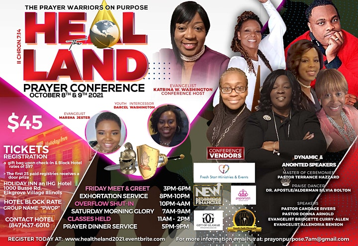 """""""PWOP"""" Heal The Land Prayer Conference II Chronicles 7:14 image"""