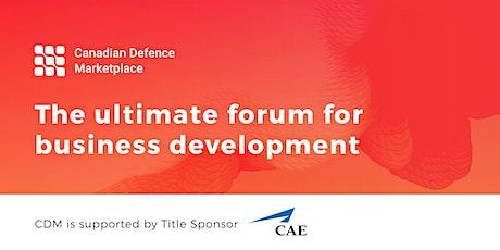 Canadian Defence Marketplace – CADSI's B2B/G Platform tickets