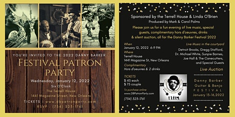2022 Danny Barker Patron Party at The Terrell House tickets
