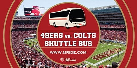 Niners vs. Colts Levi's Stadium Shuttle Bus - MILL VALLEY DEPARTURE tickets
