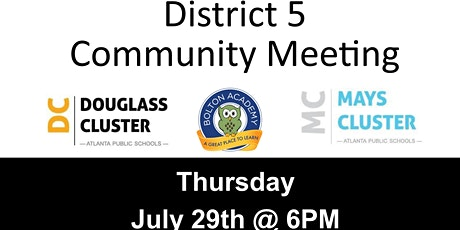 District 5 Community Meeting tickets
