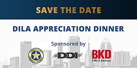 2021 DDI DILA Appreciation Dinner tickets