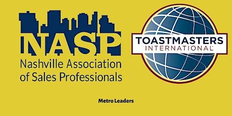 Public Speaking and Leadership Training -NASP Metro Leaders Toastmasters tickets