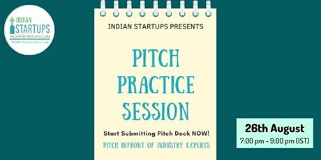 Pitch Practice Session for Startups (India/Global) tickets