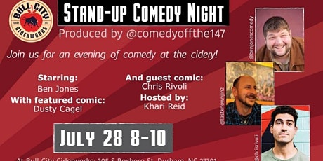 Free Comedy Night at Bull City Ciderworks tickets