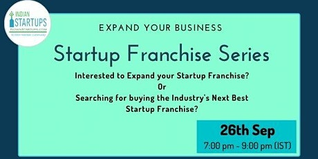 Startup Franchise Series (India/Global) tickets