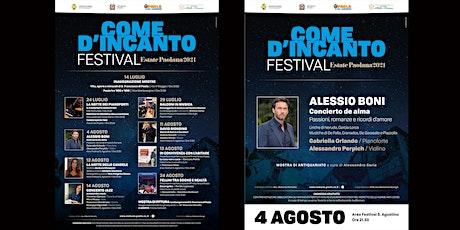 Come d'incanto Festival- ALESSIO BONI in Concierto de Alma biglietti