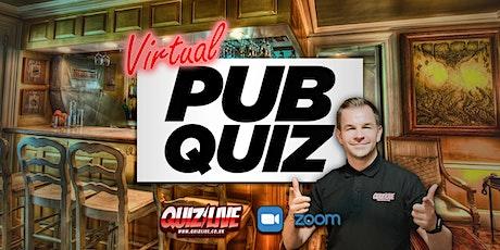 The Virtual Pub Quiz Live on Zoom with Carl Matthews tickets