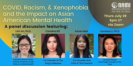 COVID, Racism, & Xenophobia and the Impact on Asian American Mental Health tickets