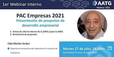 PAC Empresas 2021 - Presentación de proyectos de desarrollo empresarial entradas