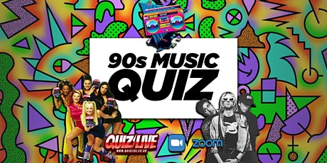 90s Music Quiz Live on Zoom billets