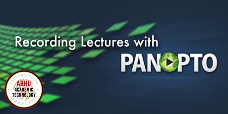 Getting Started with Panopto tickets