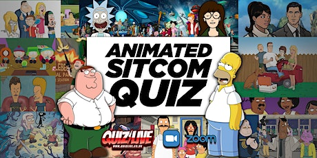 Animated Sitcoms Quiz Live on Zoom tickets