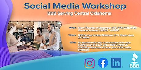 BBB® Social Media Workshop tickets