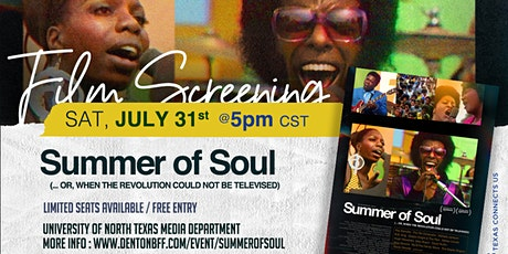 Film Screening: Questlove's Summer of Soul tickets