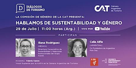 DIÁLOGOS DE TURISMO | Hablamos de Sustentabilidad y Género | 29 Julio entradas