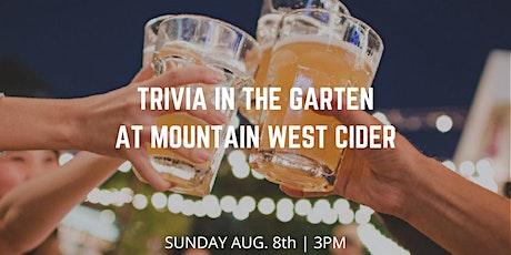 Trivia at The Garten with Josh! tickets