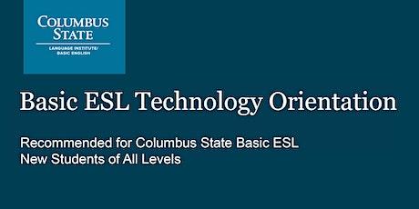 Basic ESL Technology Orientation tickets
