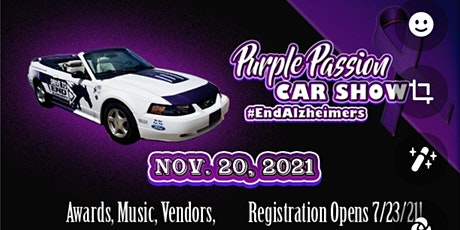 3rd ANNUAL PURPLE PASSION CAR & BIKE SHOW FOR ALZHEIMER'S tickets