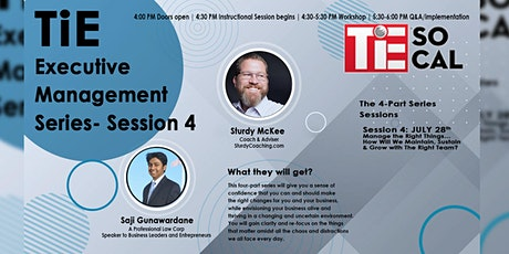 TiE Executive Management Series- Session 4 tickets