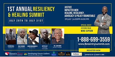 Justice Impacted Men, Healing, Resiliency, Advocacy, and Policy tickets