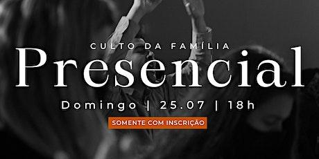Culto presencial - 25.07.21 | MPV Curitiba ingressos