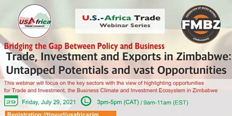 INVESTMENT AND EXPORTS IN ZIMBABWE - OPPORTUNITIES AND POTENTIALS tickets