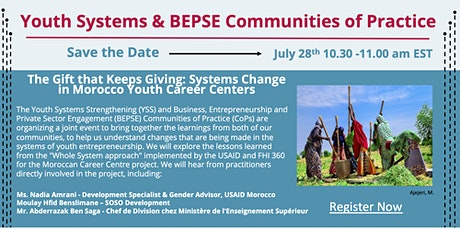 The Gift that Keeps Giving: Systems Change in Morocco Youth Career Centers tickets