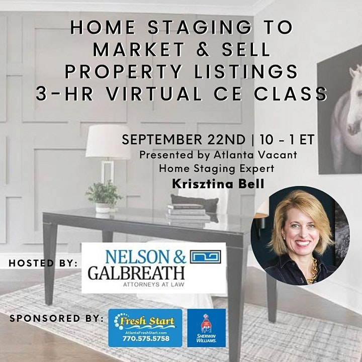 3HR  CE Class - Home Staging to Market & Sell Property Listings image