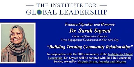 Building Trusting Community Relationships with honoree Dr. Sarah Sayeed tickets
